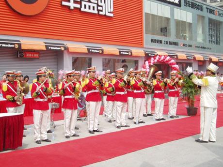 公司开业庆典军乐队表演