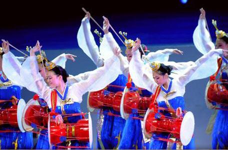 朝鲜舞蹈演出