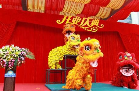 公司开业舞狮表演