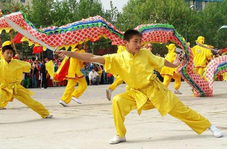 成都舞龙舞狮武术表演
